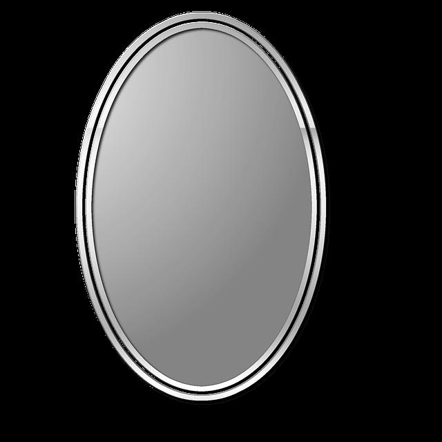 暇つぶしで鏡