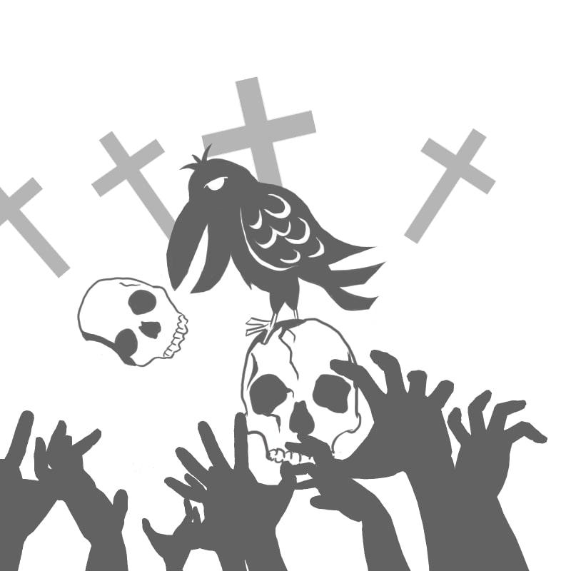 ハロウィンのお化けとイラスト~カラス~