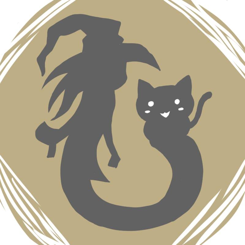 ハロウィンのお化けとイラスト~黒猫~