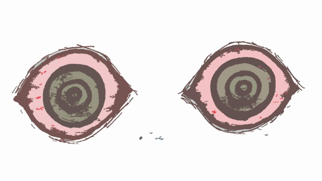 目が赤いイラスト