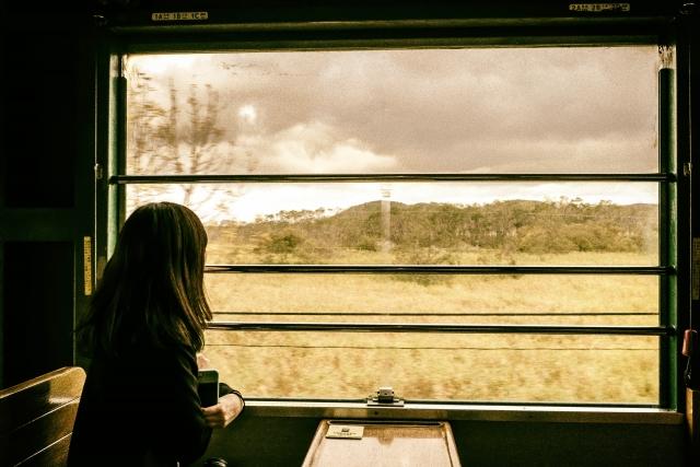 電車で一人
