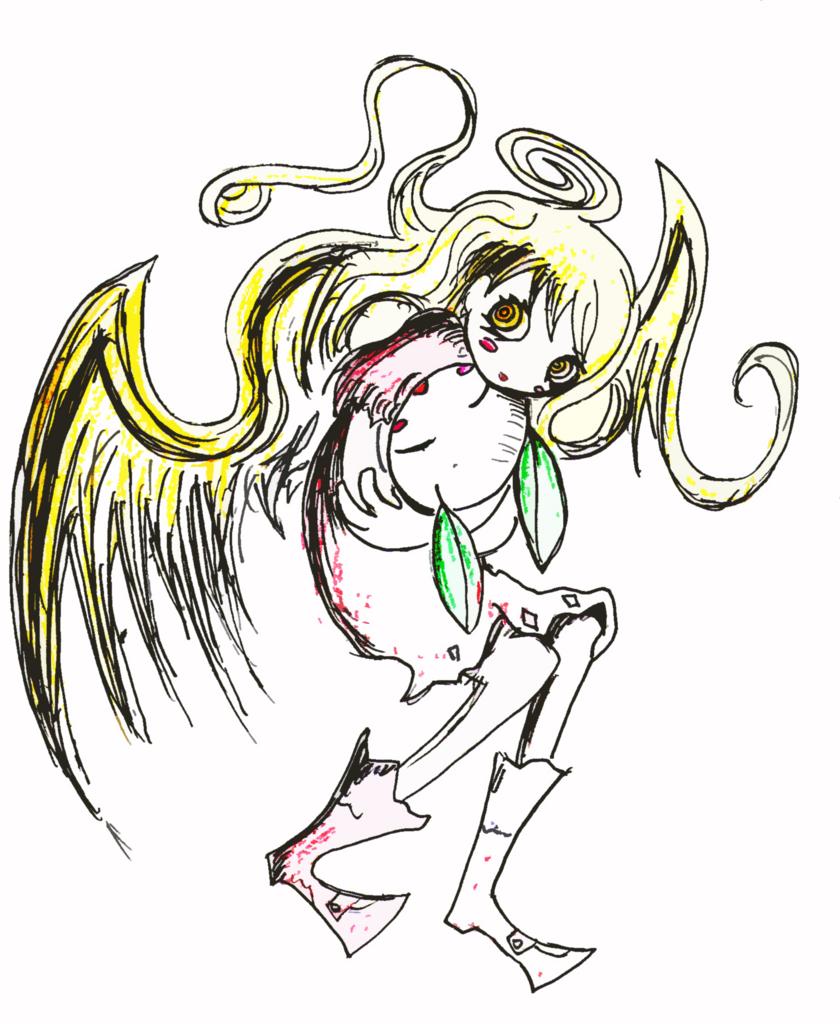 女の子に抱かれて死にたいのイラスト