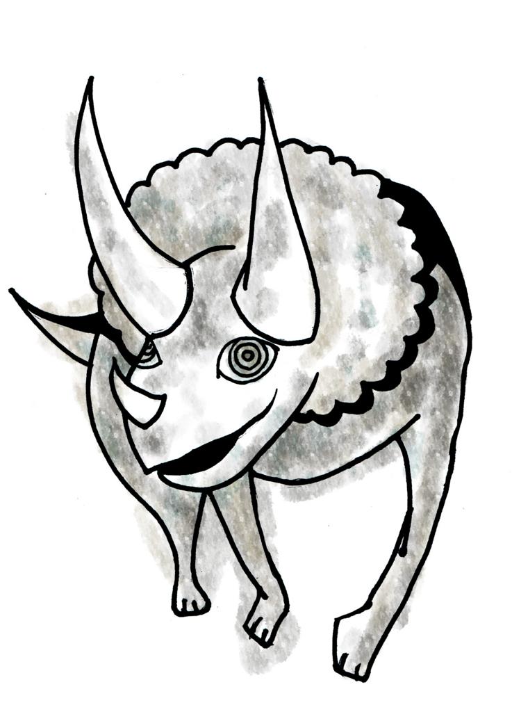 トリケラトプスのイラスト