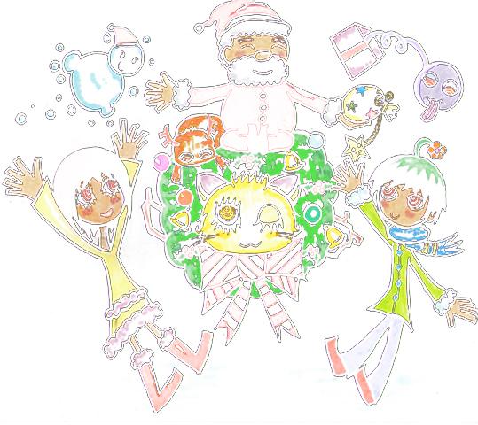 サンタさんのクリスマスプレゼントイラスト
