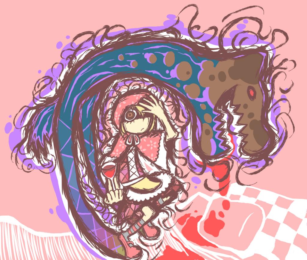 本当は怖い赤ずきんのイラスト